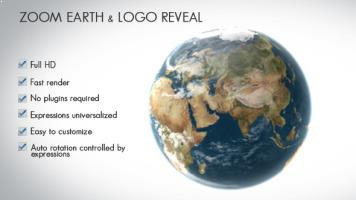 Zoom Earth and Logo Reveal