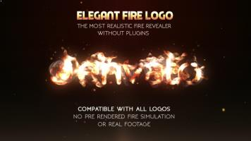 Elegant Fire Logo (No Plugin)