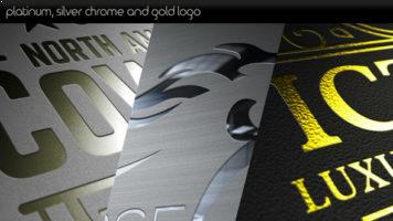 Platinum Silver Chrome and Gold Logo