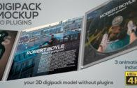 Digipack Mockup – No Plugins
