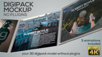 digipack mockup – after effects template