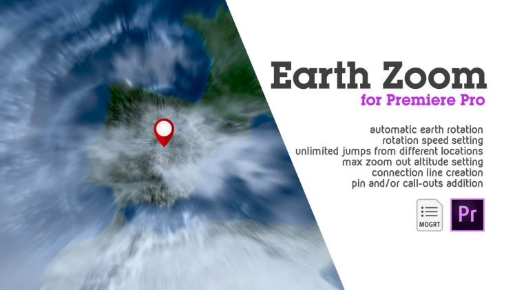 EARTH ZOOM for premiere pro